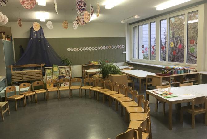 Kreis im Kindergarten
